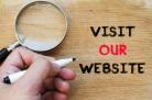 Visit our website text concept